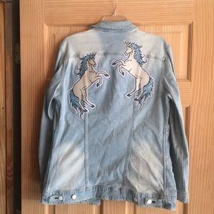 Lularoe Jaxon Embroidered Unicorns Large